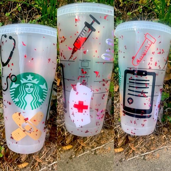 Starbucks venti cup theme nurse life custom made
